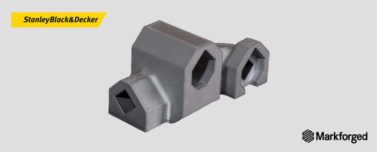 Stanley Black&Decker and Markforged: 3D metal printing of the PD 45 part.