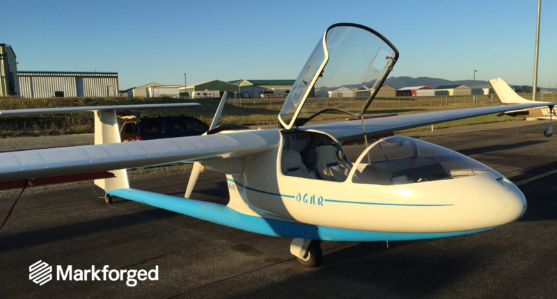 Ogar glide flights again thanks to Markforged's technology