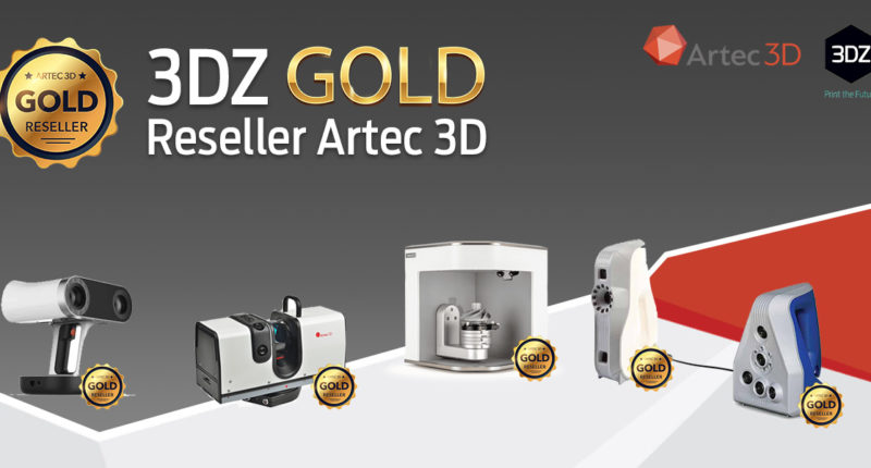 3DZ becomes Gold Partner of Artec 3D