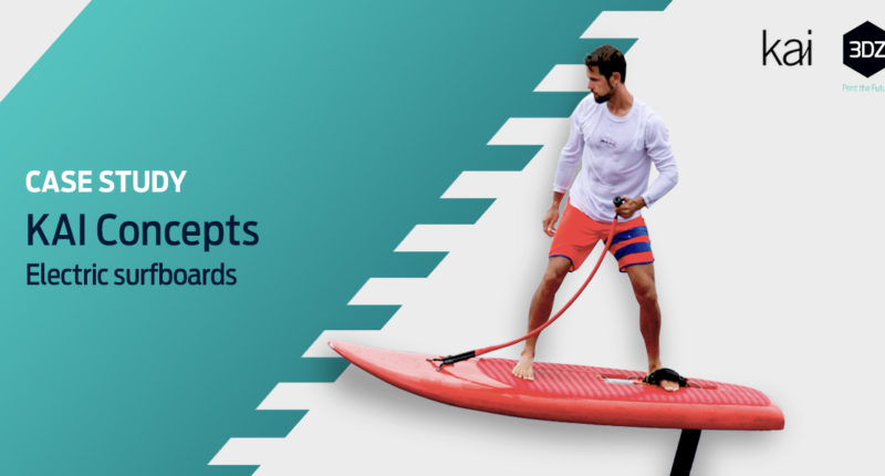 3D printed electric surfboards